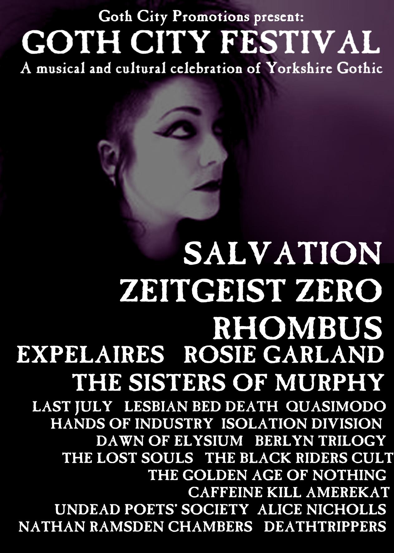 goth city festival flyer